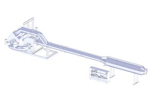 Fan skid with ammonia flow control and spray evaporation unit