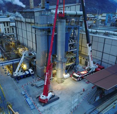 SCR plant modification in Switzerland
