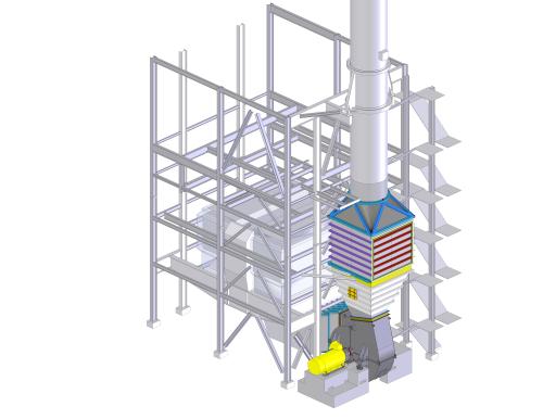 SCR plant modification (CAD image)